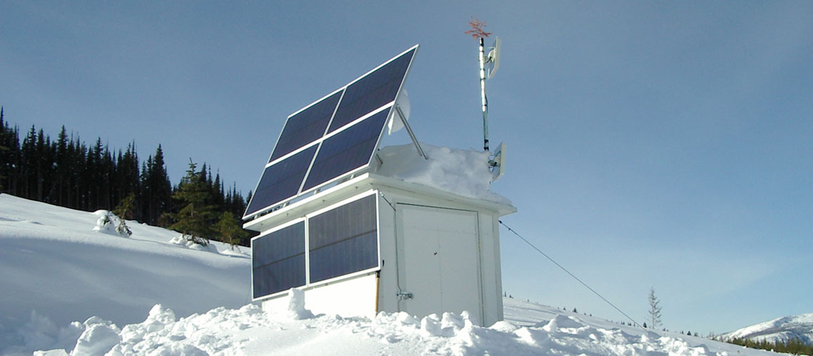 repeater station with solar power installed by IPS Integrated Power Systems Kelowna BC