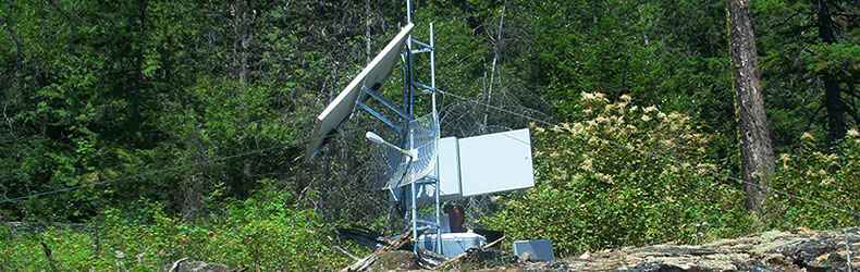 Island repeater station by IPS Integrated Power Systems Kelowna BC