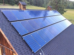Grid-Tie Solar Power Installation with 40 solar panels and a 10kw inverter