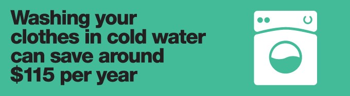 washing with cold water can help save energy in your home
