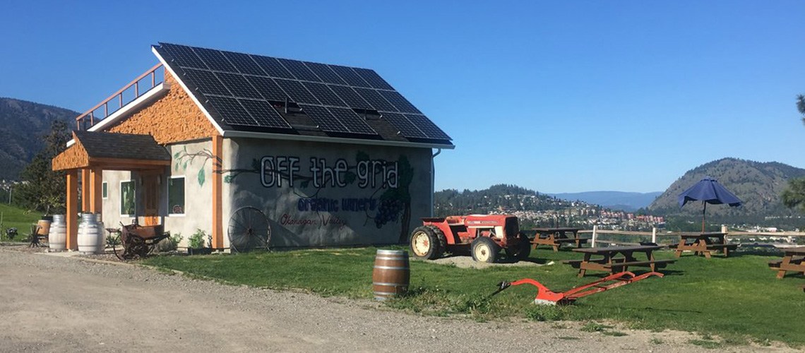March 2017 Off the Grid Winery Solar